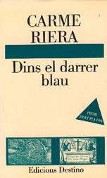 """Portada de l'obra """"Dins el carrer blau"""", de Carme Riera"""