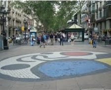 Fotografia de la Rambla de Barcelona
