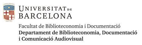 Logo Facultat Biblioteconomia i Documentació UB
