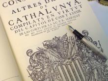 Portada de Constitucions 1702