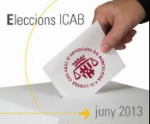 Juny 2013 -Eleccions a Degà del Col·legi d'Advocats de Barcelona (ICAB)