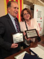 Antonio Frulio i Patricia Gabancho, a l'Ateneu de l'Alguer