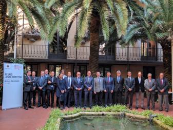 Junta Directiva del Futbol Club Barcelona a l'Ateneu Barcelonès