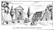 Entrada cementiri