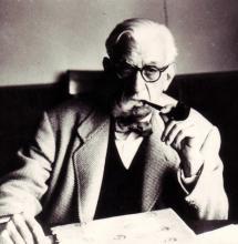 Eugeni Xammar, amb pipa